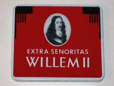 Vintage WILLEM II Extra Senoritas CIGARS Advertising Tin! (Made in Holland)