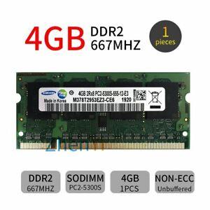 4GB 2GB 1GB DDR2 PC2-5300S 667MHz 1.8V Laptop Memory SODIMM RAM For Samsung LOT