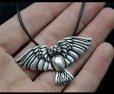 Viking Owl Norse Bird Pendant Necklace