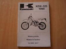 Kawasaki KDX 125 (KDX125B1) Modelljahr 1990 Motocyclette manuel d`atelier