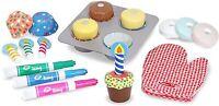 Melissa & Doug Madera Hornear & Decorar Cupcakes 22 Pieza Juguete Set &