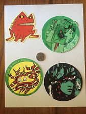 Tyler Stout Sticker Set of 4 Stickers Sold Out Rare Limited Edition Various Misc