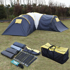 Waterproof 6-9 Person 3+1 Room C&ing Tent Outdoor Hiking Two Layer Backpack & Camping Tents | eBay