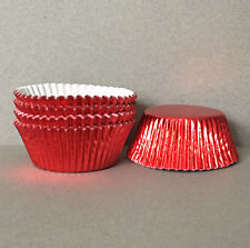 Red Foil Cupcake Liners, Red Cupcake Wrappers, Red Baking Cups, Red Muffin Tins