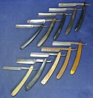 (10) Straight Razor Lot - Hollow Ground - Estate - Vintage - Lot #9