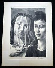 "1950s Spanish/ American Litho Print ""The Bride"" by Federico Castellon (Hin)"