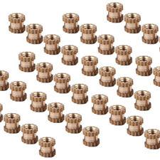 100stk Einpressmutter M2 3mm Messing Gewindeeinsatz Rändelmutter Rändelmuttern