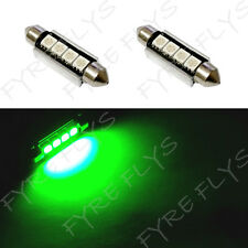 2 Green 42mm Canbus Error Free LED Bulbs Dome Map Cargo Light W4x2