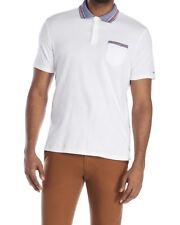 BEN SHERMAN Men's White Polo T-shirt. 100% Cotton. Size L. NWT. $55
