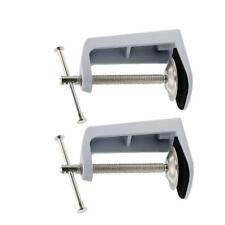 2pcs Adjustable Arm Clamp Table Lamp Clip Swivel Lock Holder Metal Stand