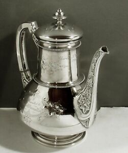 Whiting Sterling Coffee Pot                    c1880 FAIRMAN FAMILY