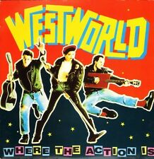 """WESTWORLD where the action is/fly westworld BOOM 3 uk rca 1987 7"""" PS EX/EX"""