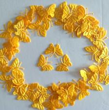 50 Orange - Yellow Butterfly Motifs 4 DIY Card Crafts n Sewing  Embroidery