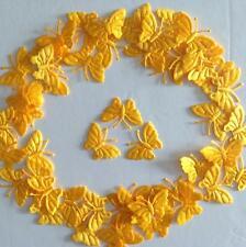 50 Arancione-Giallo Farfalla Motivi 4 FAI DA TE CARTA artigianato N CUCITO RICAMO