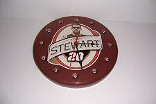 "NASCARS TONY STEWART ROUND METAL WALL CLOCK 12"" DIAMETER"