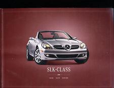 2008 Mercedes Benz SLK350 SLK55 AMG Sales Brochure Book