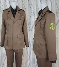 Axis Powers Hetalia 2P Italy Cosplay Costume including hat+shirt+pants+coat+belt