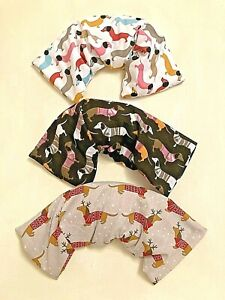 FUN DACSHUNDS DOGS MICROWAVE LAVENDER WHEAT BAGS FOR NECKS & BACKS PAIN RELIEF