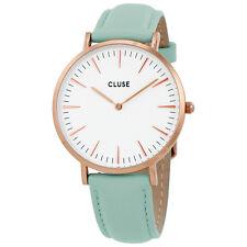 Cluse La Boheme White Dial Pastel Mint Leather Ladies Watch CL18021