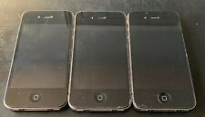 Lot of 3 Apple iPhone 4 - Black A1332 Untested No Power Cords To Test