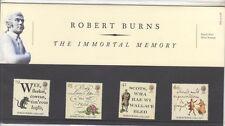 GB 1996 Robert Burns presentación Pack 264 SG 1901 -1904 conjunto de sello de menta