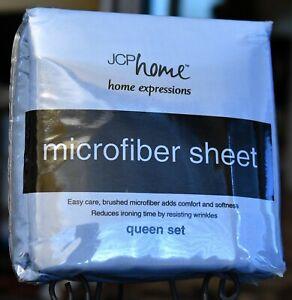 JCP Home Expressions Queen Set - Microfiber Blue Dusk Sheet Set