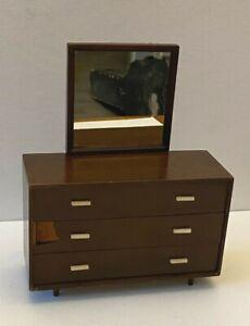 Vintg 1958 Mattel Barbie Doll Mid Century Modern Dresser Mirror #808 Furniture