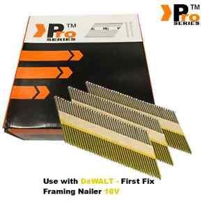 2080 x Mixed Framing Nails for DEWALT 18vCordless First Fix (65mm & 90mm)GR