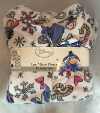 Disney 2pc Micro Fleece Pajama Set Size 3XL New W/ Tags Eeyore Winnie The Pooh