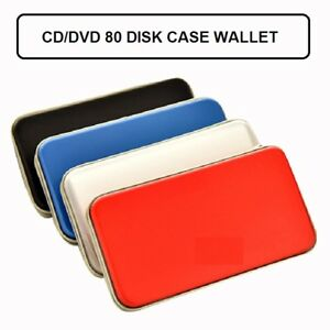 80 CD DVD Carry Case Cover Disc Storage Holder CD Sleeve Wallet Ideal Bag Boxes