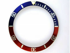 BEZEL INSERT FOR ROLEX SUBMARINER RED BLUE (fits some vostok amphibia bezels)