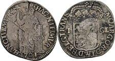 Gulden 1701 Niederlande Overijssel, Silber, Krone, Wappen #FB185