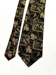 "robert talbott best of class wood duck stamp postage neck tie 57"" x 4"""