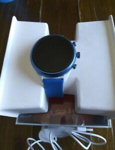 New Sealed Fossil Women's Gen 4 Blue White Touchscreen Sport Smartwatch FTW6051