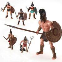 Lot De 6 Figurines Gladiateurs Romain Jouet Enfant Rome Arène Combat Collisée
