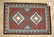 2x3' Southwestern Design Throw Rug w/Non-skid Backing Woven Tucumcari 13571