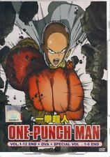 One Punch Man DVD (Vol: 1 to 12 end + OVA +Special Vol.1-6 end ) English Dubbed
