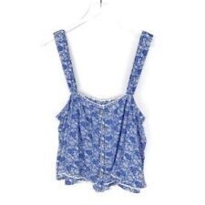 Free People Blue And White Crop Top Size L