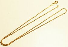 Solid yellow gold 750 18K marked petty necklace lot#415