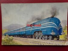 POSTCARD LMS STREAMLINED LOCO IN BLUE LIVERY - THE CORONATION SCOT