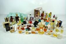 Vintage Lot 59 Miniature Glass Perfume Bottles Plus 12 Samples