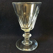 Verre H ± 10,9 cm cristal Saint Louis taillé  pontil arasé lenticulaire XIX e