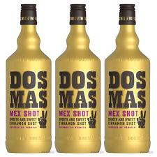 16,66€/l DOS MAS Tequila verfeinert mit Zimtlikör Zimt 3 x 0,7 Liter