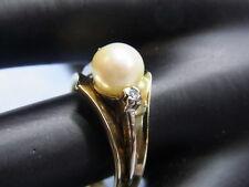585er Gelbgold mit Perle Ringgroße 57 Perlendurchmesser 7,4mm Gewicht 6,1 gramm