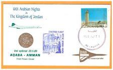 JORDANIE / 1° VOL British Airways AVION CONCORDE Ligne AQABA-AMMAN le 29.05.1989