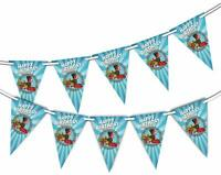 Train Happy Birthday - Bunting 15 flags for Unique Decoration by Party Decor