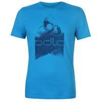 Odlo Logo T Shirt Blue Dark Design Print Tee Top Mens Size Small *REF29