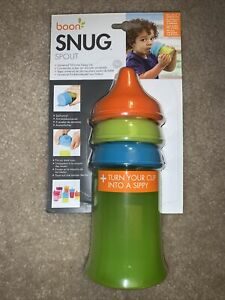 Boon Snug Spout Silicone Sippy Lid Set 3 Lids 1 Cup