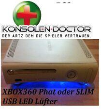 KDOC XBOX 360 USB Kühler Lüfter Zusatzlüfter + LED blau