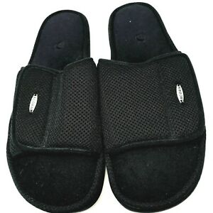 Acorn Mens Open Toe Slip On Slide Sz Medium-12-13 Casual Comfort Black NEW